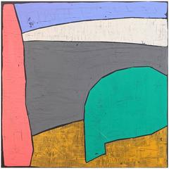 'Avoiding Voids' Abstract Landscape Painting by Alan Fears
