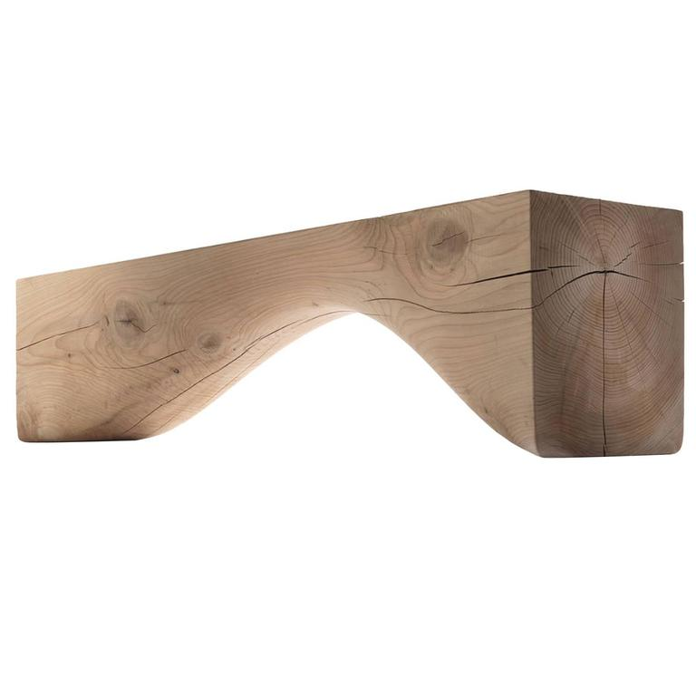 Bench Line in Solid Cedar Wood For Sale