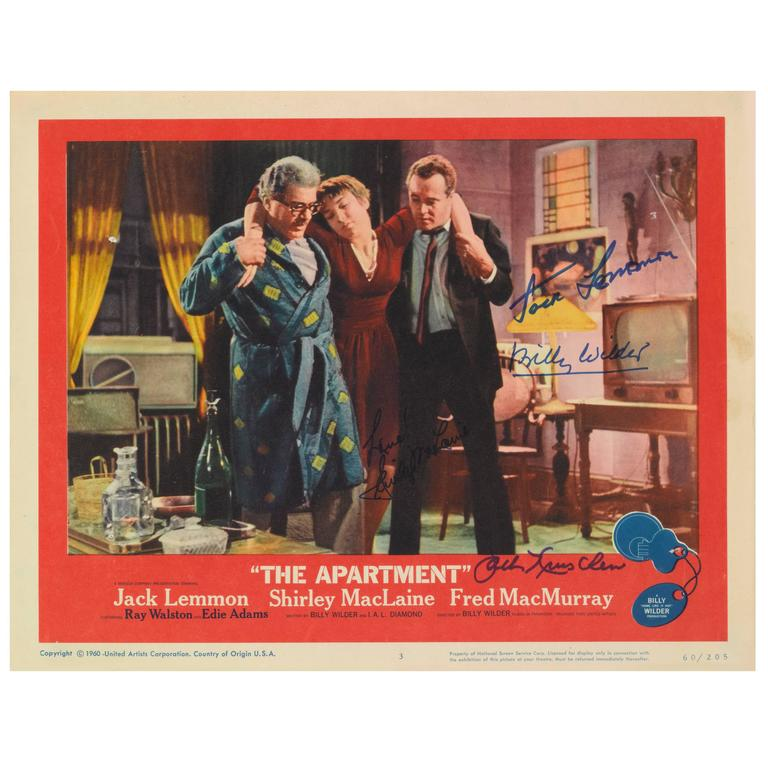 """Shirley Maclaine The Apartment: """"The Apartment"""" Lobby Card For Sale At 1stdibs"""