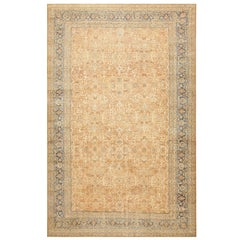 Large Decorative Antique Persian Lavar Kerman Rug