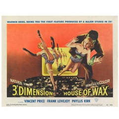 House of Wax, US Title Lobby Card for the 1953 3D Horror Movie