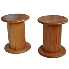 Mid-Century Danish Pedestals or Nightstands