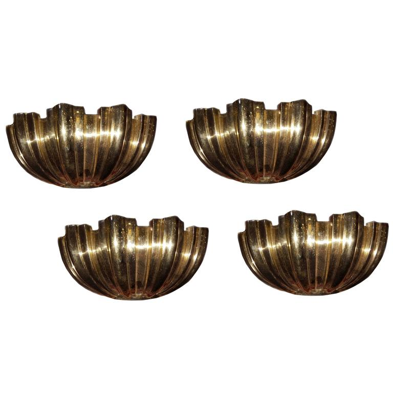 Set Of 4 Shell Sconces At 1stdibs