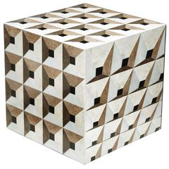 Rue Monsieur Paris, Moonlight Kaleidoscope Cube, Side Table