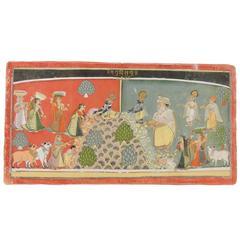 18th Century Persian Illustrated Folio from Bhagavata Purana