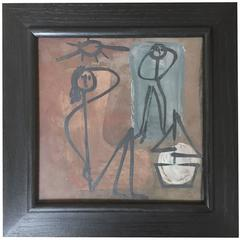 Jacques INNOCENTI - Framed Ceramic Tile Decorated