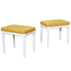 Vintage Faux Bamboo Stools