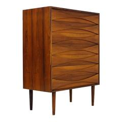 Very Rare 1960s Arne Vodder Rosewood Chest of Drawers for NC Mobler, Denmark