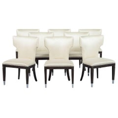 Set of Eight Univoy Modern Style Dining Chair