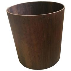 Walnut Waste Basket by Jens Risom