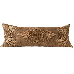 Antique Metal Work Embroidery Cushion, Long