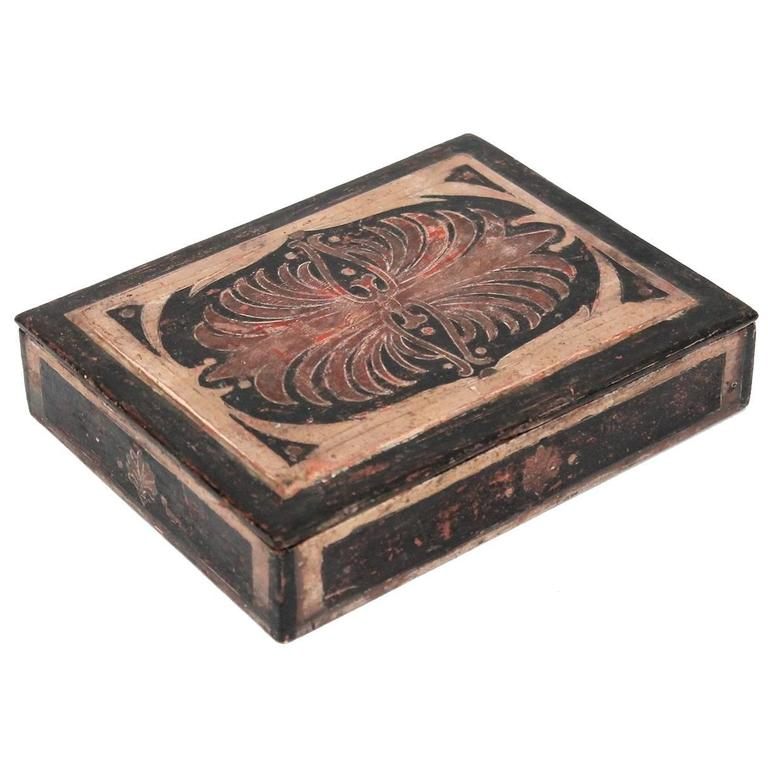 Carved Max Kuehne Box For Sale