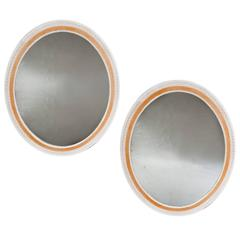 Pair of 20th Century Painted Mirrors