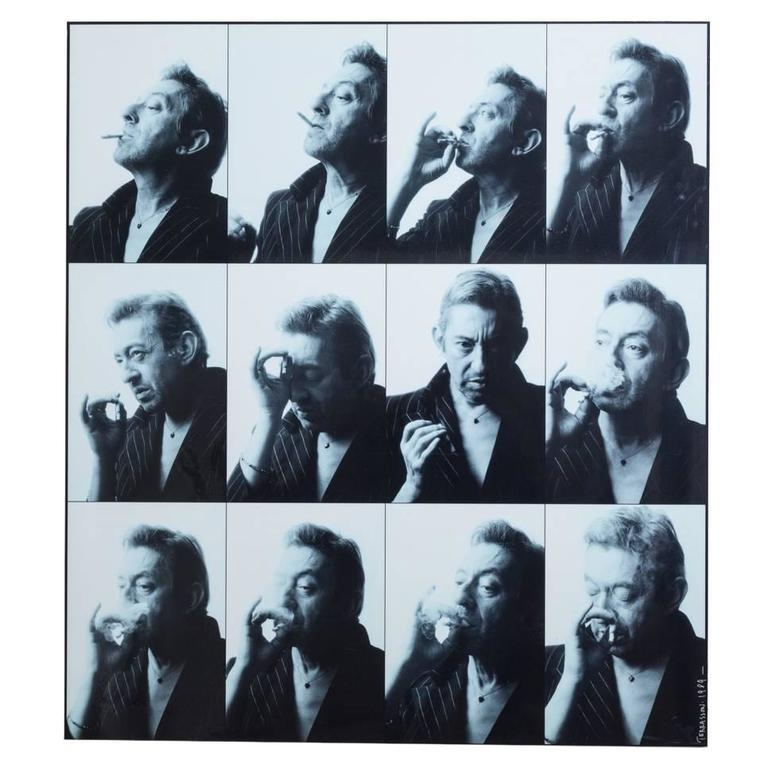 Pierre Terrasson 12 Miniature Portraits of Serge Gainsbourg, 1989 Print For Sale