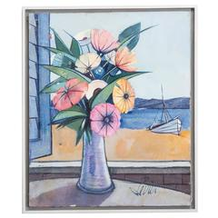 Framed Still Life Oil Painting by Charles Levier