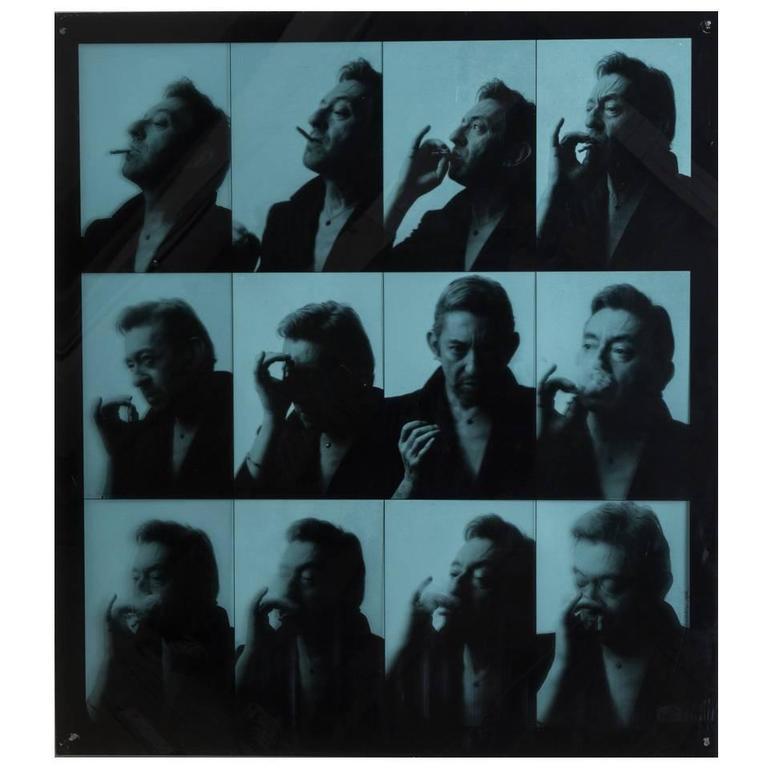 Pierre Terrasson Portrait Series of Serge Gainsbourg, 1989