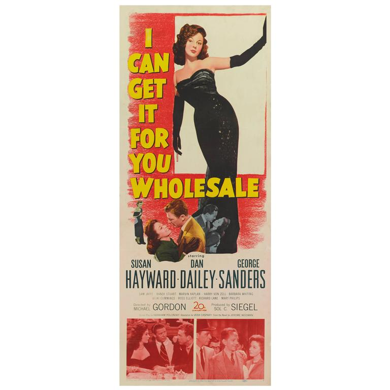 """I Can Get It for You Wholesale,"" Original US Film Poster"
