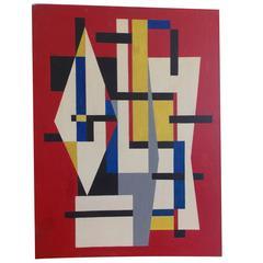 Mid-Century Modern Art Geometric Painting