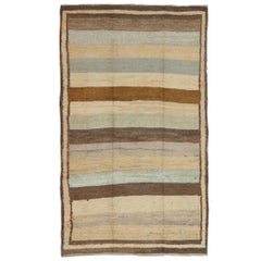 Vintage Tulu Rug with Multiple Bands of Colors