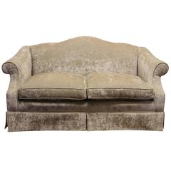 Fine Shaved Velvet Fabric Loveseat