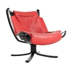 1970s Falcon Lounge Chair by Sigurd Ressell for Vatne Møbler Scandinavian Design