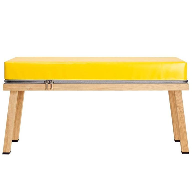 Visser And Meijwaard Truecolors Bench In Yellow PVC Cloth With Zipper