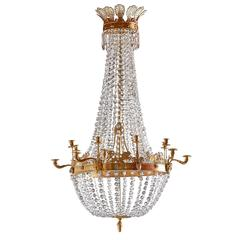 Imposing Ormolu and Crystal Tent Form Chandelier, circa 1810
