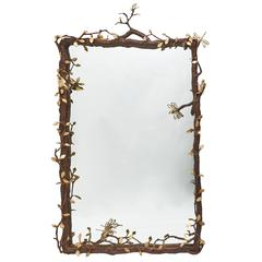 Unique Paula Swinnen Bronze Branch Design Mirror, 2015