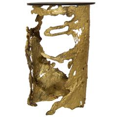 Cast Brass Organic Side Table