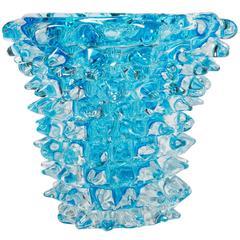 Small Blue Rostro Cone Vase