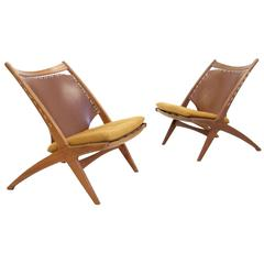 Pair of Lounge Chairs by Fredrik A. Kayser for Gustav Bahus, 1950s