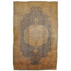 Large Antique Turkish Oushak Rug