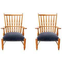 Beautiful Pair of Armchairs by Paolo Buffa