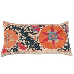 Pillow Fashioned from an Antique 19th Century Uzbek Suzani