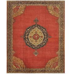 Large Hand-Knotted Traditional Turkish Rug