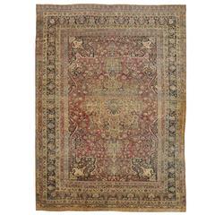 Late 19th Century Persian Lavar Kerman