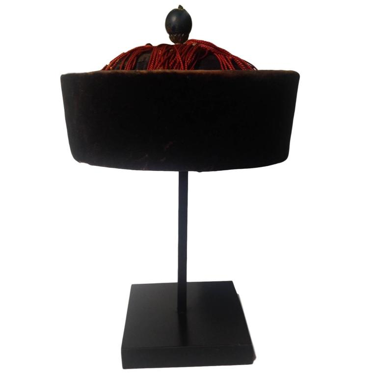 19th Century Chinese Court Official's Winter Hat