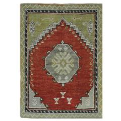 Small Vintage Tribal Turkish Rug