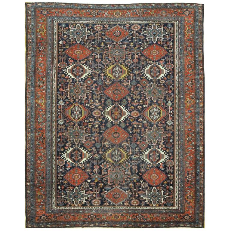 Antique Large Rug: Antique Large Persian Karajeh Rug For Sale At 1stdibs