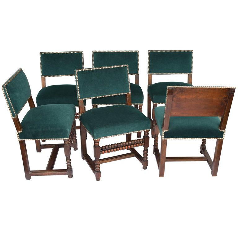 SIX Louis XIII Dining Chairs For Sale