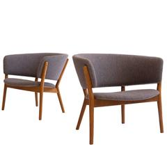 Pair of Nanna Ditzel ND83 Easy Chairs