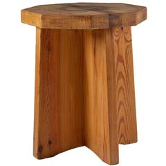 Stool or Side Table in Pinewood, Sweden, 1940s