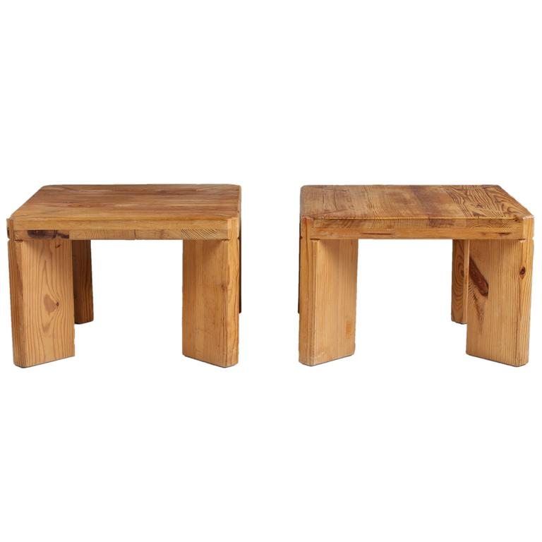 Rare Stools or Side Tables by Roland Williamsson, 1969