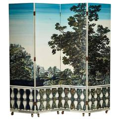 "Folding Screen ""Bosco Con Balaustra-Libri"" by Piero Fornasetti"
