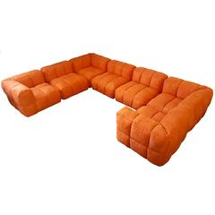 Monumental 1970s Tufted Modular Sofa by Marge Carson for John Stuart