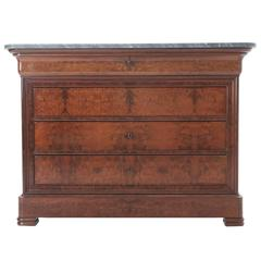 French 19th Century Louis Philippe Commode with Marble Top