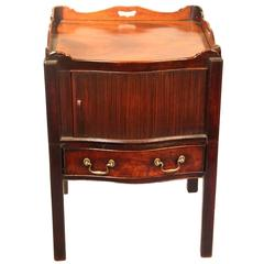 18th Century Georgian English Mahogany Bedside Table
