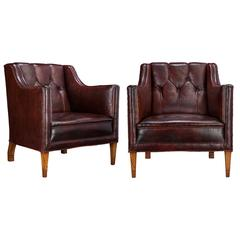 Pair of Swedish Club Chairs