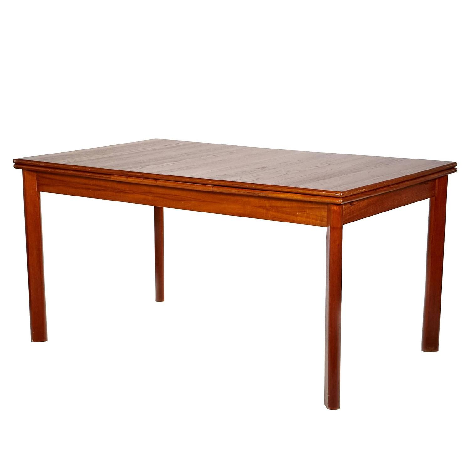 Danish Teak Extension Dining Table At 1stdibs