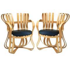 Pair of Frank Gehry Knoll Cross Check Armchairs
